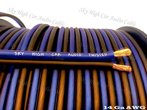 400 ' feet TRUE 14 Gauge AWG CCA Speaker Wire Car Home Audio Sky High Car Audio ft