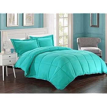 kinglinen turquoise down alternative comforter set fullqueen - Turquoise Bedding
