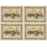 Pimpernel Tuscan Palette Placemats - Set of 4 (Large)