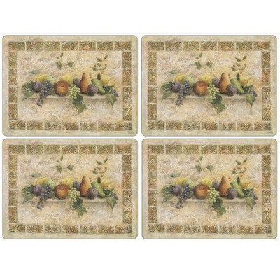 Tuscan Fabric Seat - Pimpernel Tuscan Palette Placemats - Set of 4 (Large)