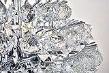 Bestier Modern Pendant Chandelier Crystal Raindrop