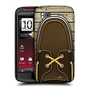 Head Case Designs Brown Boat Shoes Protective Snap-on Hard Back Case Cover for HTC Sensation XE Sensation by ruishername