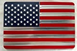 Helm 4 x 6 in. Billet Aluminum Trailer Hitch Cover - American Flag44; Red & Blue