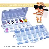 Weiyun Education Toys - Storage Organizer Carrying Eggs Box- Case Holder for LOL Surprise Mini Dolls - Adorable Box Accessories Toys for Kids,Eco-Friendly Plastic - 18 Compartments(Random Delivery)