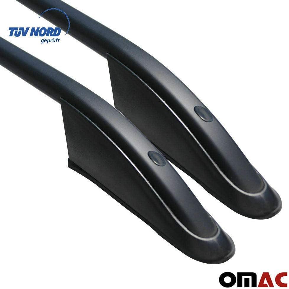 OMAC GmbH Set Dachreling Gep/äcktr/äger f/ür Vito W639 W447 2003-2020 Relingtr/äger Alu Schwarz mit T/ÜV ABE Mittle
