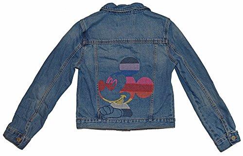 GAP Kids Girls Disney Mickey Mouse Crazy Stripe Denim Jean Jacket XL 12 - Gap Jean Jacket