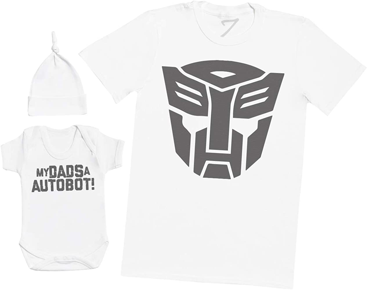 My Daddy is A Autobot! Mens T Shirt /& Baby Romper Matching Father Baby Gift Set