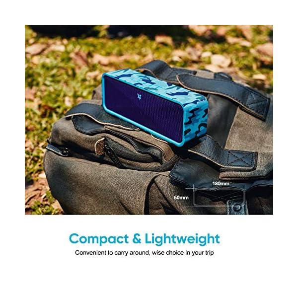 Enceinte Bluetooth 5.0 Portable, Axloie Macaron Haut-Parleur sans Fil HiFi Stéréo avec Microphone Mains Libres Entrée AUX/Clé USB/Carte TF 12 Heures Autonomie pour iOS Android Tablettes - Camouflage 5