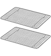 Luvan 2-Pack 100% 304(18/10) Stainless Steel Roasting amp; Cooling Rack,Fits Pan,Oven Safe amp; Rust-Pr...
