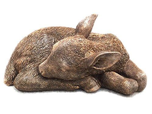 Sleeping Fawn Deer Garden Statue -