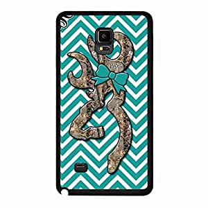 Fashionable Browning Deer Phone Case For Samsung Galaxy Note 4 Cute Browning Deer Logo