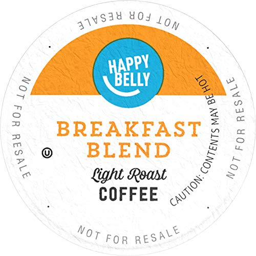 Amazon Brand - 100 Ct. Happy Belly Light Roast Coffee Pods, Breakfast Blend, Compatible with Keurig 2.0 K-Cup Brewers (Best K Cup Coffee Brands)