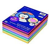 Arts & Crafts : Pacon 6555 Rainbow Super Value Construction Paper Ream, 45 lb, 9 x 12, Assorted, 500 Sheets