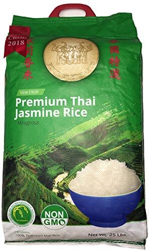 Four Elephants Premium Thai Jasmine Rice Non-GMO 25 lbs by Four Elephants