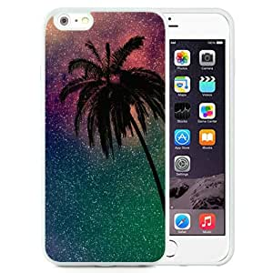 Fashionable And Nice Designed Case For iPhone 6 Plus 5.5 Inch TPU With Palm Tree White Phone Case