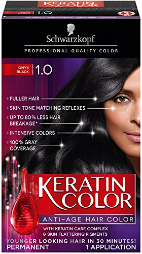 Schwarzkopf Keratin Hair Color, Black Onyx 1.0, 2.03 Ounce (Schwarzkopf Hair Color Black compare prices)