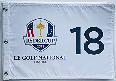 2018 Ryder Cup Flag le golf national France silkscreen logo new