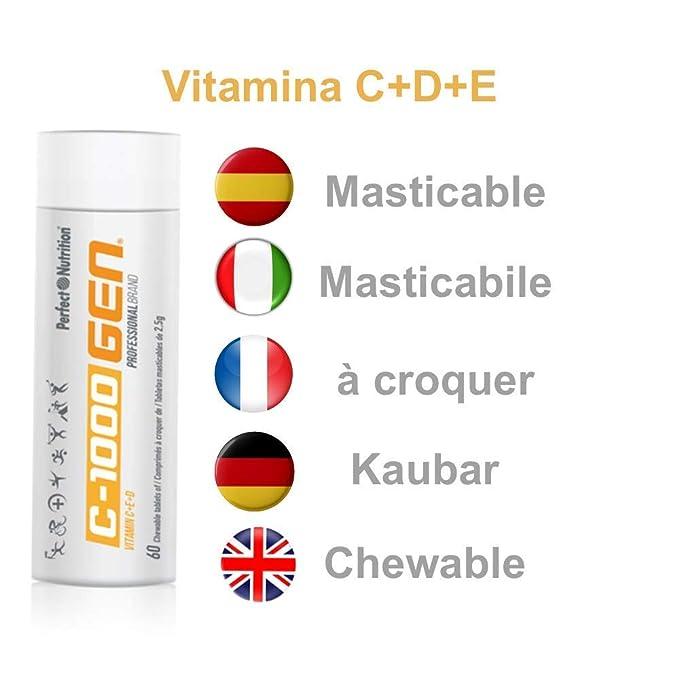 Vitamina C + E + D Masticable alta concertación 60 comprimidos de ...