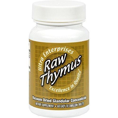 Ultra Glandulars Ultra Raw Thymus 200mg 60 tab ( Multi-Pack)