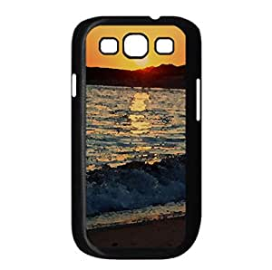 Small Wave, Sunset Watercolor style Cover Samsung Galaxy S3 I9300 Case (Beach Watercolor style Cover Samsung Galaxy S3 I9300 Case)