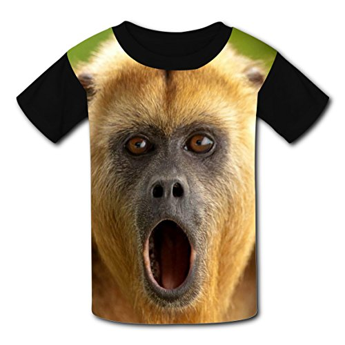 Captain Underpants Fancy Dress Costume (BYTimz Surprised Baboon Gorilla T-shirts Printed Crew Neck Tees for Boys Girls XS)