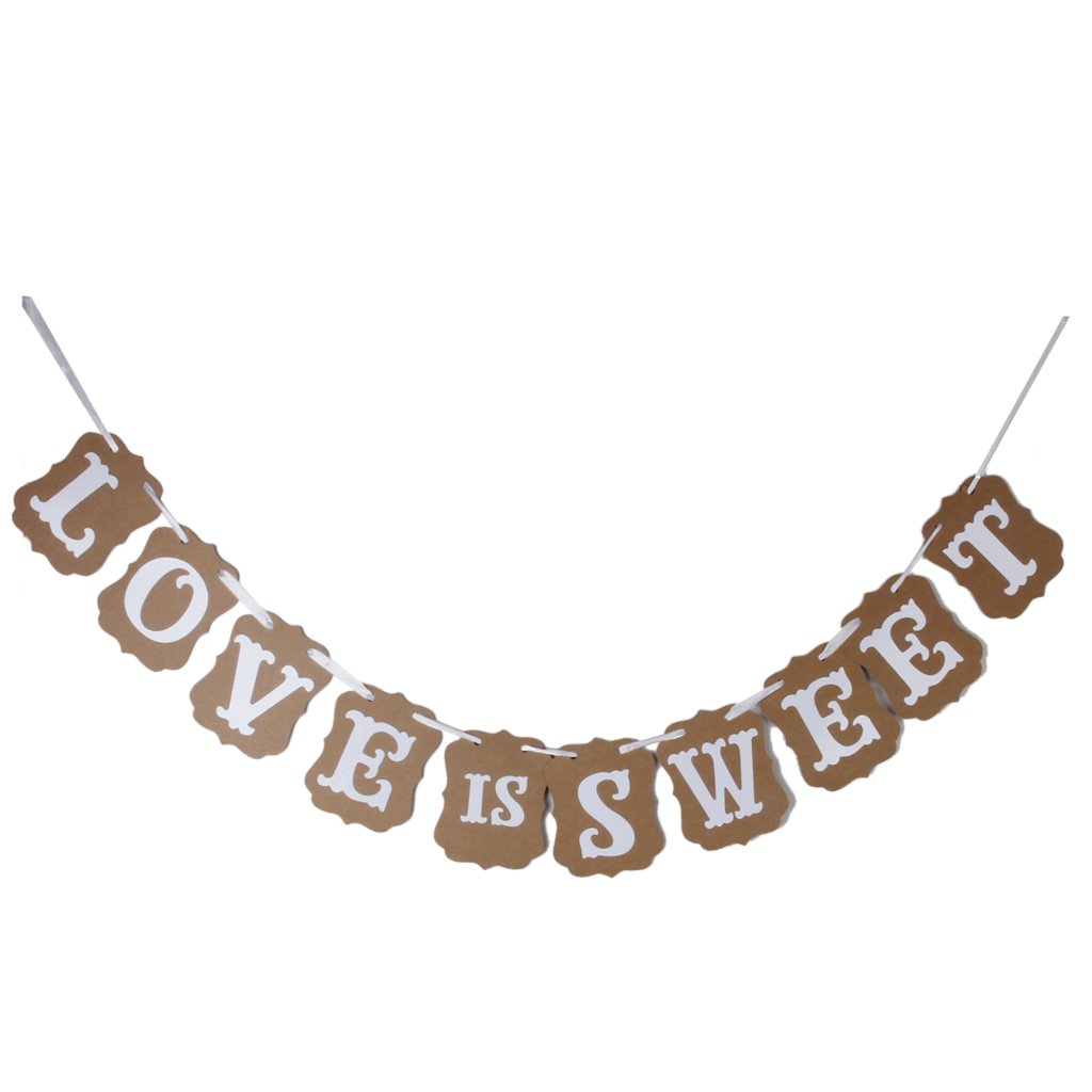 Wedding Western Party Decoration Bunting Garland Banner LOVE IS SWEET Generic AS-LOVEGQ
