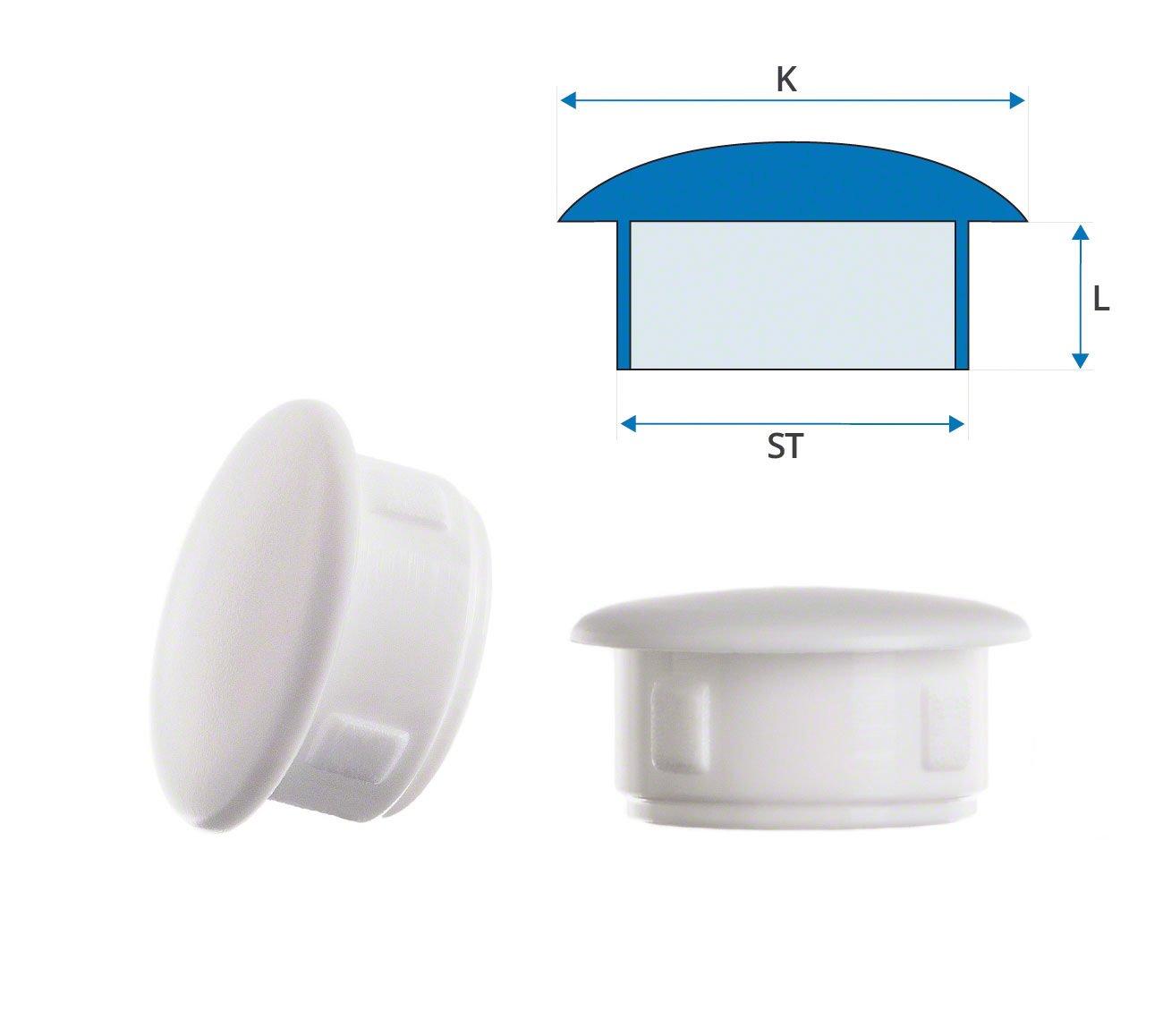 Abdeckstopfen 30x25 mm Wei/ß Abdeckkappen Blindstopfen Kunststoffkappen 10 Stck