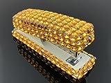 Blingustyle Bling Bling Iridescent Diamante Crystal Stapler for Office/Home (Bar Gold)