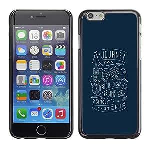 Viaje London Blue Travel Inspiring- Metal de aluminio y de plástico duro Caja del teléfono - Negro - iPhone 6
