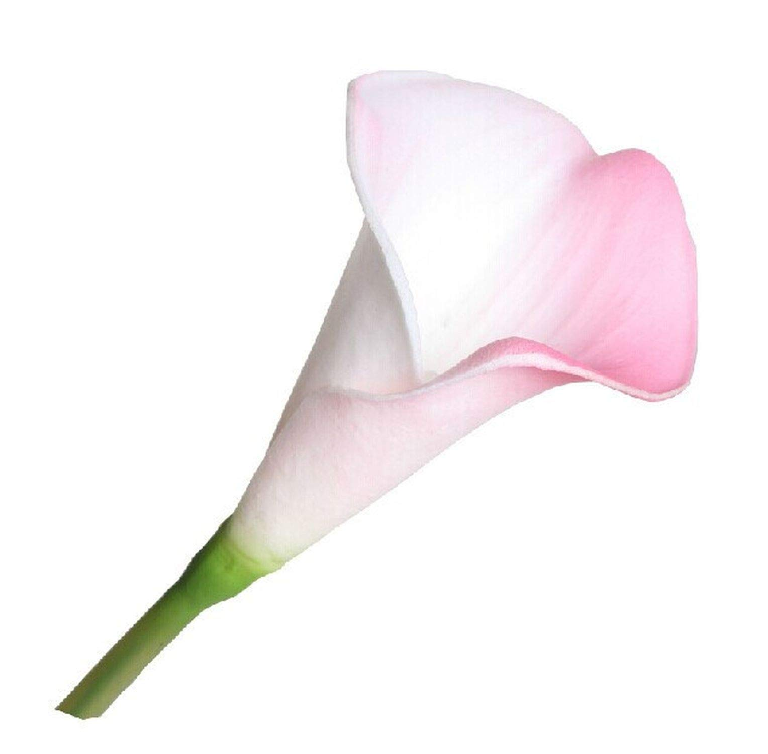 33Pcs Pink Mini Calla Lily 14'' Mini Calla Lily Wedding Bride Bouquet Latex Real Touch Flower Pink Bunch Home Decor,33 Pcs Flowers by Vicky-Flower