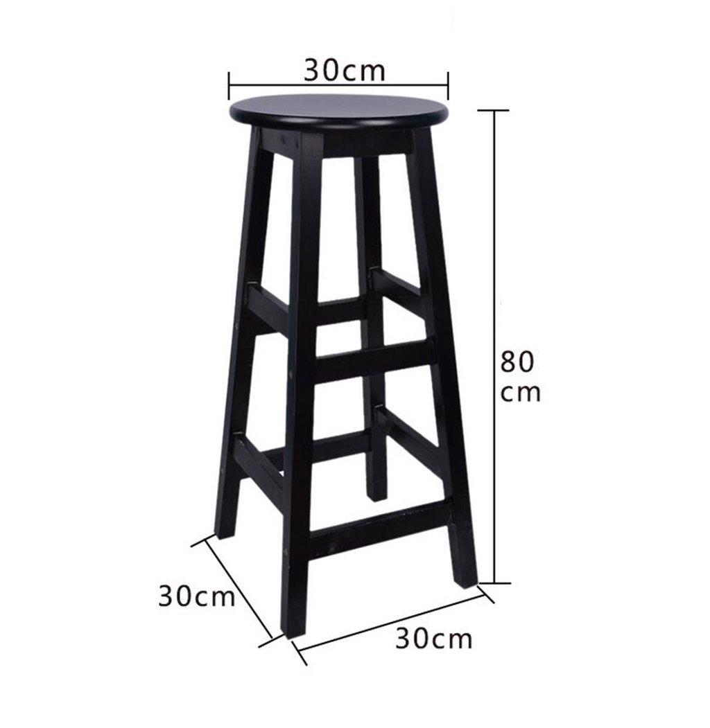 Amazon.com: Solid Wood Bar Stool,Bar Stool Tall Stool Tall ...