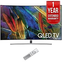 Samsung QN65Q7CAM Curved 65 4K Ultra HD Smart QLED TV (2017 Model) with 1 Year Extended Warranty