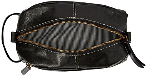 Timberland Mens Nevada Leather Travel Kit Black