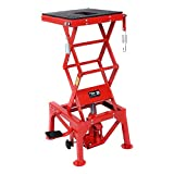 Goplus New 300lb Motorcycle Hydraulic Scissor Floor Jack Lift Hoist Center Stand Lift