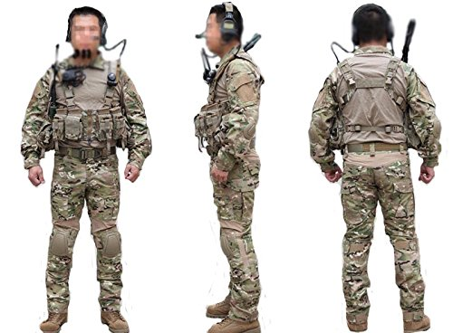 ATAirsoft(TM) Emerson Military Men Paintball Hunting BDU Uniform Combat Gen2 Suit Shirt & pants with Elbow Knee Pads Multicam MC (L) (Emerson Gen2 Combat compare prices)