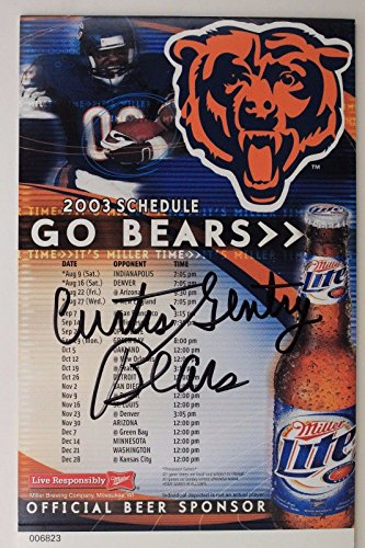 CURTIS GENTRY Chicago Bears Maryland Eastern Signed Autograph 2003 Schedule 16G ()
