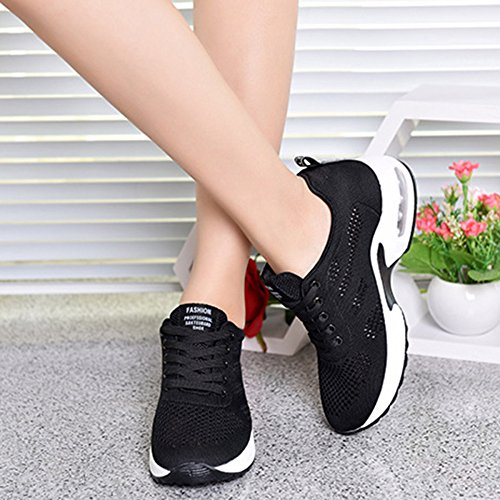 Women Sneakers Walking Black Breathable Running Shoes Shoes Ladies Cushion Waterproof Air Leisure Fitness Shoes snfgoij Hiking Travel pq1St