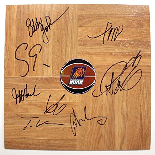 Phoenix Suns 2014-15 Team Autographed Signed Basketball Floorboard Round Logo (Signed Team Floor)
