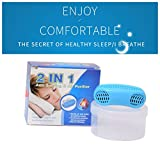 Anti Snoring and Sleeping Breath Aid Snore Stopper Device Air Purifier Silicone Nose Clip Nasal Dilator Relieve Stuffy Nose (Blue)