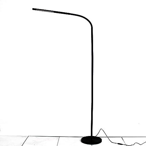 LIGHTEU, interruptor de sensor táctil táctil de 6W LED, lámpara de pie LED, atenuación continua, brazo ajustable largo para lectura de ...