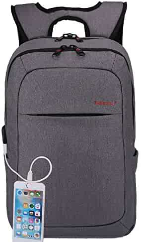 Kopack Laptop Backpack 15.6 inch With USB Port Anti-Theft Travel bag Business Computer Backpack Water Resistant Business Grey