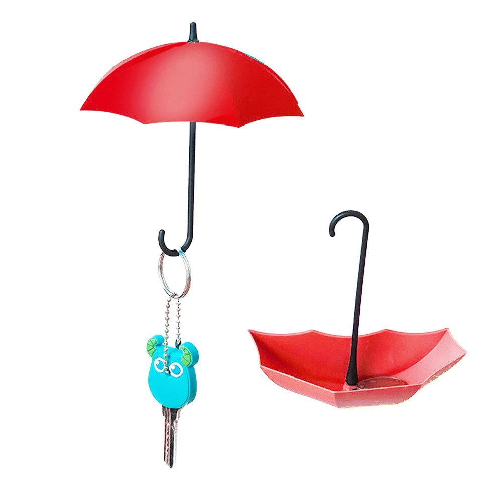 BeautyShe Colorful Umbrella Hooks, Kitchen Tools Holder,  Utility Hanger Storage with Self Adhesive,for Home Storage