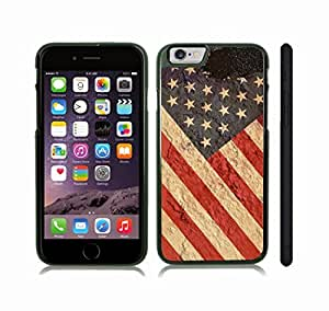 iStar Cases? iPhone 6 Case with American Flag Antique, Distressted Grunge Look , Snap-on Cover, Hard Carrying Case (Black)