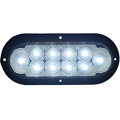 Jammy Inc 6 Quot Oval Clear Lens White Led Surface Mount