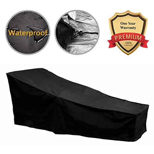 F Fellie Cover 82-inch Water Resistant Patio Chaise Lounge Covers Durable Outdoor Lounge Chair Cover, Fading Resistant