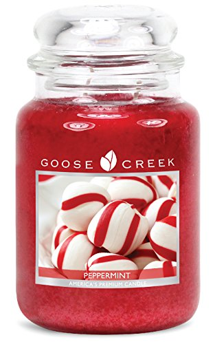 Goose Creek Candles Peppermint Scented Essential Jar Candle, Top Quality Great Fragrance, 24 oz