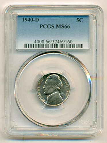 1940 D Jefferson Nickel MS66 PCGS