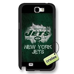 Personalize NFL New York Jets Team Logo Frosted Black For Case HTC One M7 Cover - Black