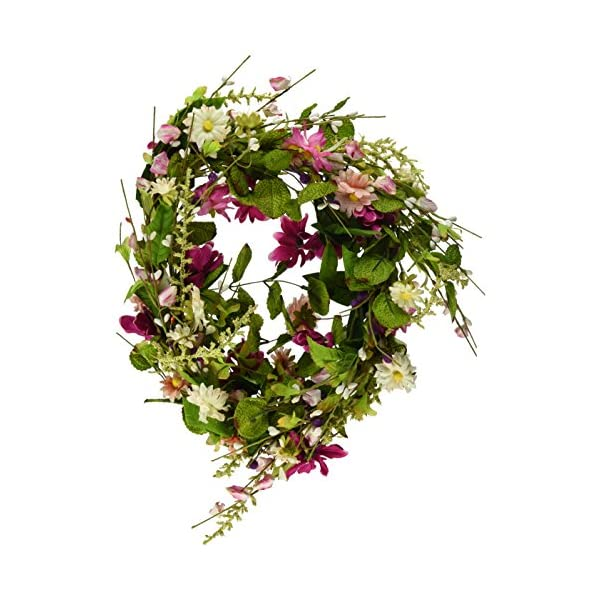 CWI Gifts Aster Daisy Wreath, 18-Inch