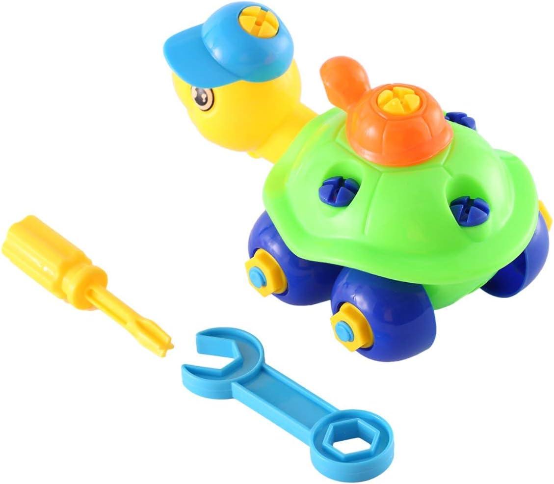 Didasong Gugutogo Educación temprana y Aprendizaje Ensamblaje de Bloques de construcción Kits de Juguetes de Tortuga Divertidos clásicos Regalos de cumpleaños para niños